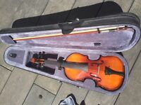 Beautiful Brand New Full Size Violin (4/4) Outfit