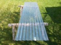 Corrugated polycarbonate roof sheets