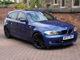FINANCE AVAILABLE!!! 2007 BMW 1 SERIES 2.0 118d M SPORT 5dr, 1 YEAR MOT, FULL LEATHER, AA WARRANTY