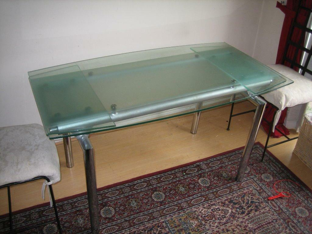 Extendable glass and chrome dining table in Dunfermline  : 86 from www.gumtree.com size 1024 x 768 jpeg 105kB