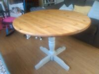 Solid Pine Round Dining Table - Farrow & Ball