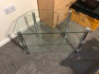 TV glass stand - used like new.