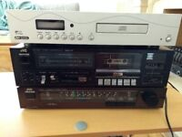 Vintage tape deck tuner and CD player separates.