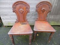 Vintage hall chairs