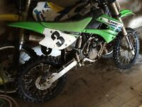 Kawasaki KX 80. Motocross big wheel