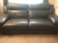 3 seater Leather Settee for sale £115 o.n.o.