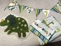 Catherine Lansfield Dino Children's Bedding Set plus rug and bunting