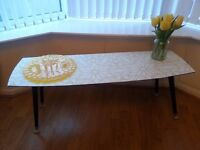 Retro upstyled/upcycled 60s coffee table