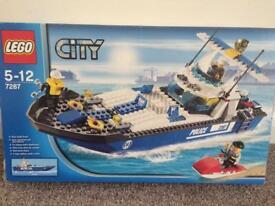 Lego City Police Boat, Lego city construction lorry with boat 4643, Atlantis 8059