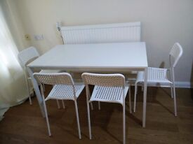 IKEA Three-seat sofa-bed,IKEA Dining table with 4 chairs For sale Urgent