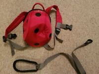 Littlelife Ladybird backpack and reins *excellent condition*