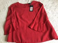 New Look Ladies Red Top Size 10