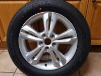 "HYUNDAI IX35 2009-2015 MK2 (BRAND NEW) 17"" Spare 10 Spoke Alloy Wheel with Tyre"