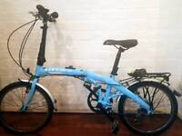 Perfect condition - Blue Carrera folding bike for sale