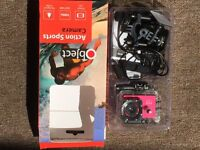 Video action camera sports pink. As new