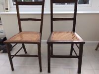 Two Bergere Bedroom Chairs (not matching)