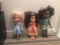 3 Disney toddler dolls