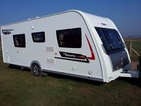 Elddis Affinity 574 2013 Fixed single beds and Back end wash room with separate shower.