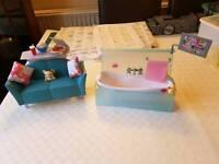 Barbie bath & seatee set