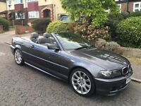 2005 BMW 318CI CONVERTIBLE M SPORT facelift, very low mileage , FSH 320i mint condition, HPI clear