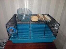 Extendable Hamster Cage + Exercise Wheel / Food Bowl / Platforms / mice / gerbils