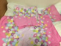 cotton flowery single bedding set