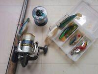 Beginners fishing rod + accessories