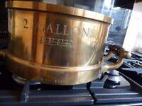 A 2 Gallon Brass Measure, AKA a Peck