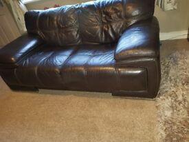 Scs violino 2x2 leather sofas
