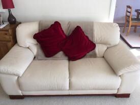Two seater sofa and matching motorised reclining arm chair