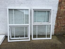 A set of 2 upvc window's