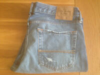"""Abercrombie & Fitch 'The A&F Slim Boot' Men's Bootcut Jeans (34""""W x 32""""L) (never worn) JUST REDUCED"""