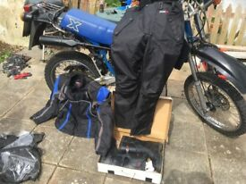 Tuzo motorcycle suit and boots