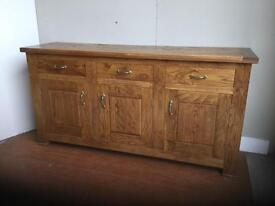 Solid oak sideboard 2000mm long 550mm deep 1010high