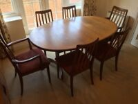 G PLAN TABLE & 6 CHAIRS