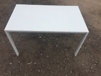 Solid White Gloss Dining Table NO Chairs V.G.C. Free Delivey In Norwich,