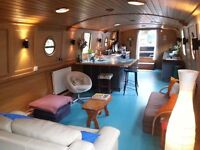 Flat bottomed widebeam houseboat. 165k in Docklands on residential mooring