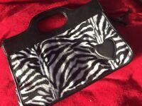 Zebra rockabilly handbag