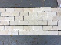 Natural Travertine Stone Brick Mosaic Tiles