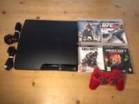PS3 Slim 320 GB Charcoal Black Console