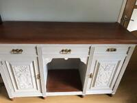 Cabby chic Victorian mahogany sideboard dresser
