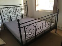 Bed frame with mattress great condition