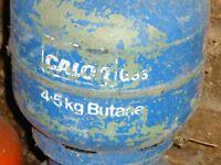 Empty 4.5kg Calor gas Butane cylinder.