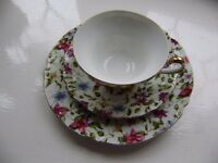 Cups and saucers and a lovely cup with saucer and a side plate