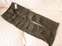 NEW H & M KHAKI CORDED TROUSERS Age 9-10
