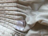 John Lewis natural damask penil pleat curtains