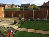 Fencing, timber & concrete