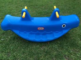 Little Tikes Whale Seesaw - Blue