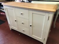 NEXT DAY DELIVERY New oak and ivory Large sideboard £385