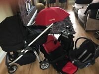 Icandy cheery pram all accessories maxi cosy car seat , maxi cosy car base .